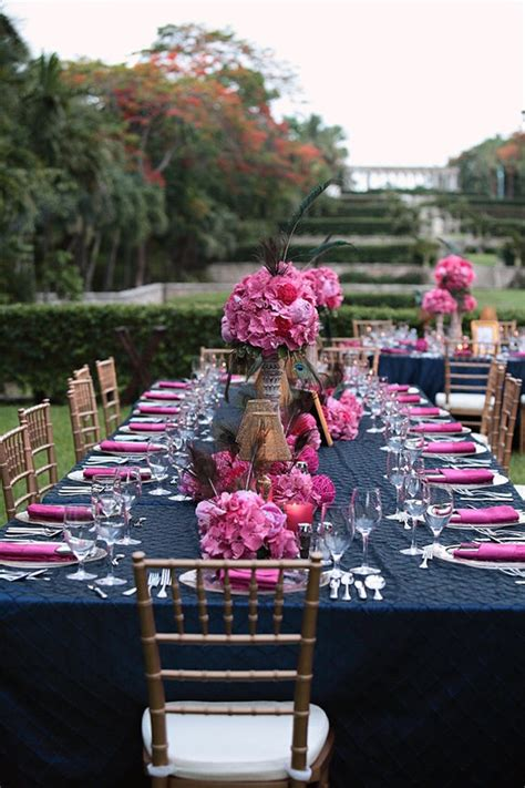 your wedding in colors navy blue and pink arabia weddings