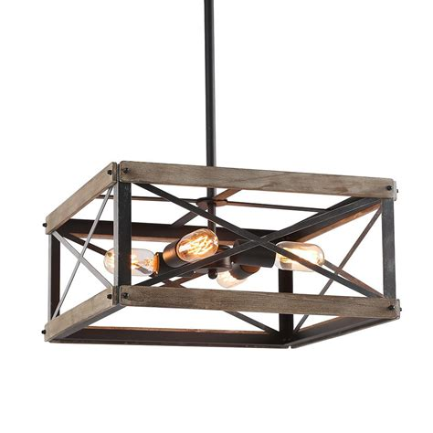lnc  light black wood kitchen island lighting rustic