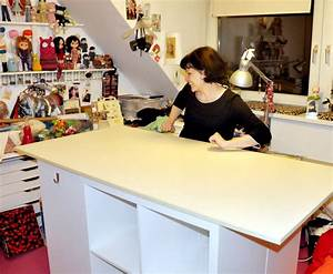 Ikea Höhenverstellbarer Schreibtisch : ikea kallax hack schneidetisch zuhause schneidetische ~ A.2002-acura-tl-radio.info Haus und Dekorationen