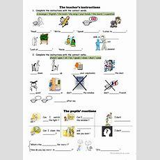 Classroom English Worksheet  Free Esl Printable Worksheets Made By Teachers