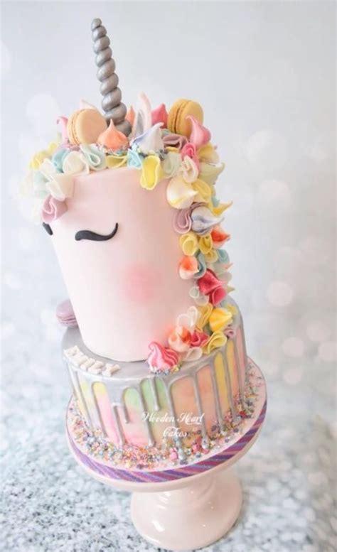 pink unicorn cake cake  wooden heart cakes cakesdecor