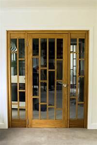 Bespoke, Oak, Room, Divider, And, Doors