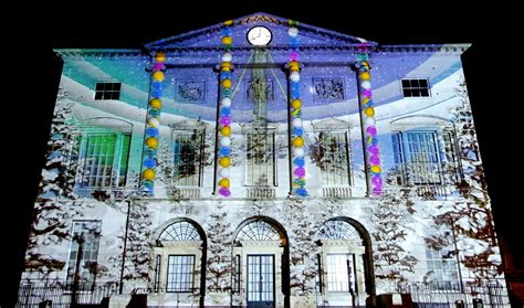 Event Projection Christmas Projection Mapping onto the