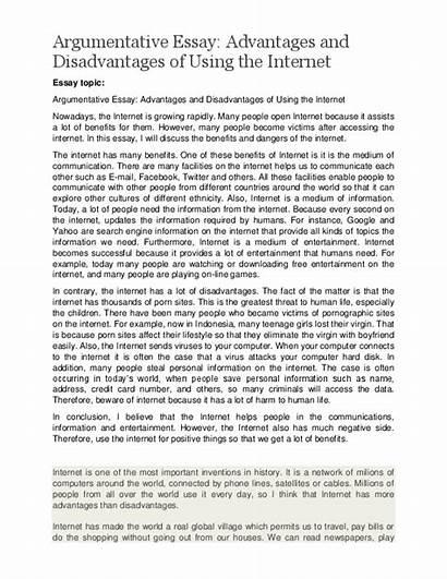 Essay Social Advantages Disadvantages Internet Argumentative Using