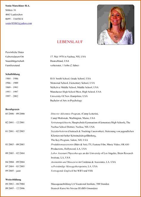 Lebenslauf Schüler by 11 Lebenslauf Schule Vorlagen123 Vorlagen123