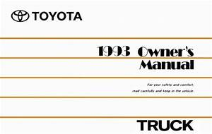 1993 Toyota Truck Owners Manual User Guide Reference