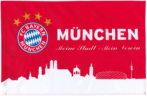 fc bayern muenchen fahne muenchen rotweiss xcm