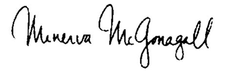 harry potter et la chambre des secrets fichier mcgonagall signature png wiki harry potter