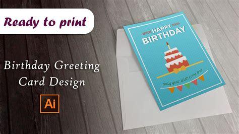 greeting card template adobe illustrator birthday greeting card design in adobe illustrator vstorrent
