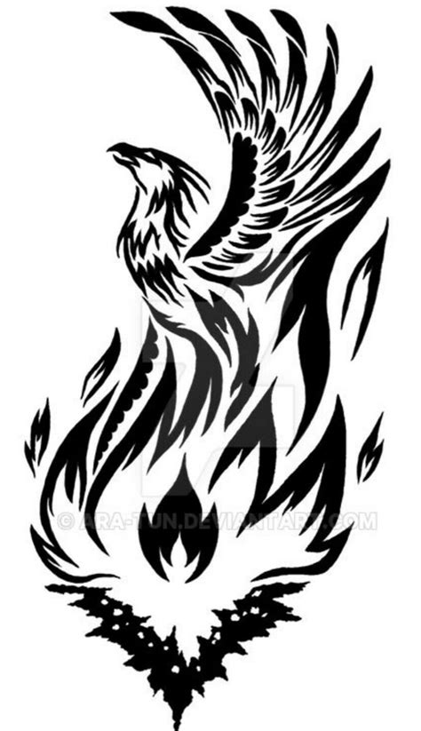 Pin by Anthony Jones on A.tattoostenciltodo   Tribal phoenix tattoo, Phoenix tattoo design
