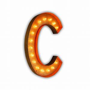 rusty 36 inch letter c marquee light by vintage marquee lights With 36 inch marquee letters