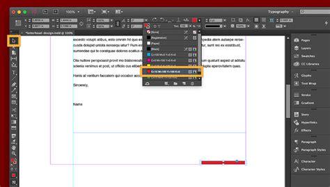 letterhead design  indesign adobe indesign tutorials