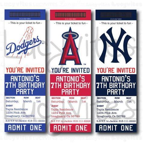 baseball ticket baseball team ticket invitation baseball baby shower gifts ticket
