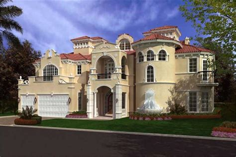 Luxury Home Plans With Pictures by Luxury Home With 6 Bdrms 8441 Sq Ft Floor Plan 107 1035