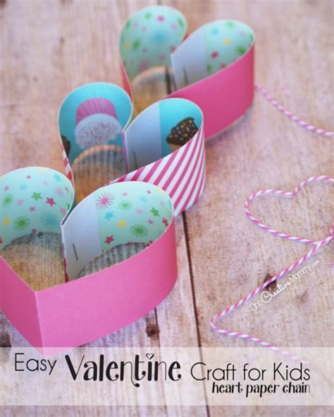 super cute paper heart valentine craft onecreativemommycom