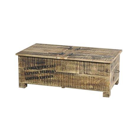 table basse coffre table basse coffre en bois ou de rangement 2 portes iron