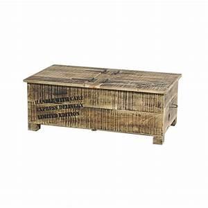 Malle De Rangement En Bois : table basse coffre en bois ou malle de rangement 2 portes iron ~ Teatrodelosmanantiales.com Idées de Décoration