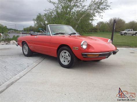 1971 Alfa Romeo by 1971 Alfa Romeo Spider Veloce Convertible Fuel