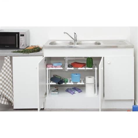 rangement evier cuisine etagère sous évier modulable rangement déco cuisine