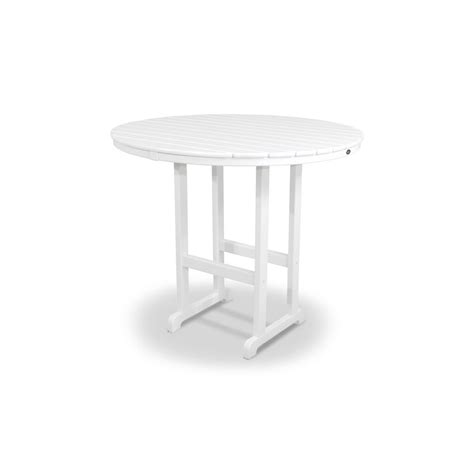 white round outdoor table trex outdoor furniture monterey bay classic white 48 in