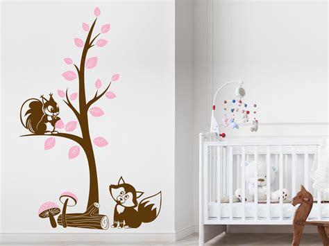 Wandtattoo Kinderzimmer Eichhörnchen by Wandtattoo Fuchs Und Eichh 246 Rnchen Im Wald Wandattoo F 252 R