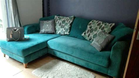 dfs teal cushion  corner sofa  bradwell norfolk