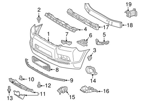 Genuine Oem Bumper Components Front Parts For