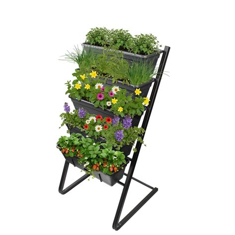 whites outdoor garden  freestanding vertical garden