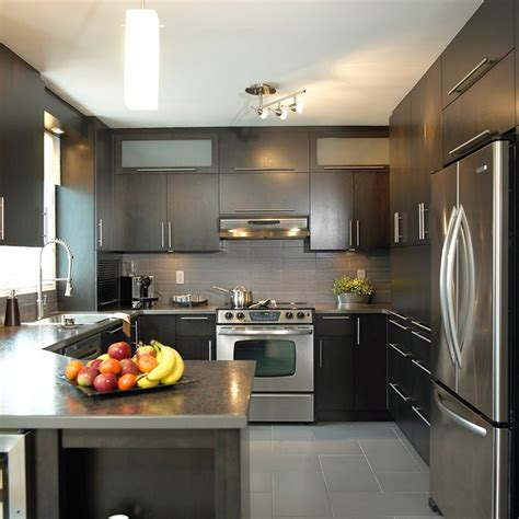 comptoir cuisine stratifié cuisines beauregard cuisine réalisation 188 cuisine urbaine en placage de bois et comptoir