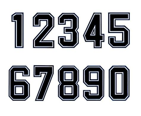 iron  heatpress bold font number football baseball