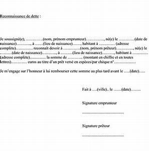 Paiement Par Virement Bancaire Entre Particuliers : mod le de lettre reconnaissance de dette entre particulier ~ Medecine-chirurgie-esthetiques.com Avis de Voitures