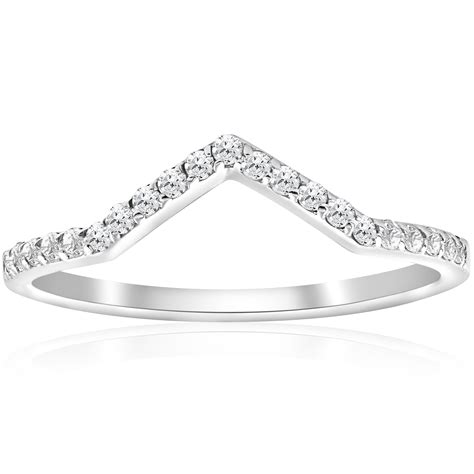 1 5ct diamond curved v shape wedding ring womens stackable