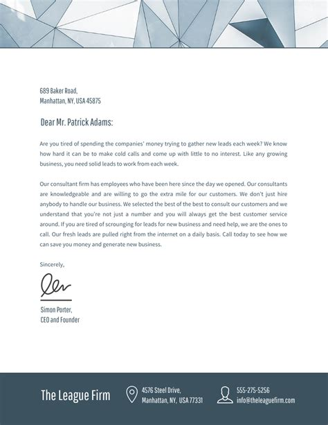 professional business letterhead templates  design