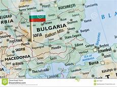 Bulgaria map flag pin stock image Image of location