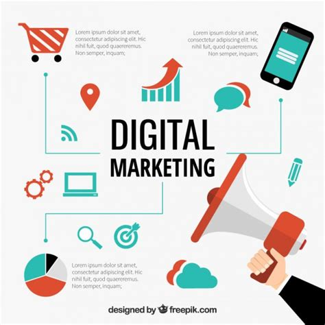 Free Digital Marketing by Digital Marketing Concept Vector Free