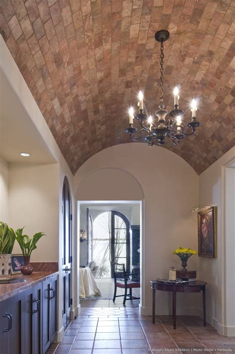 symmetrical house barrel vault ceiling ceilings