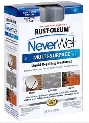 neverwet spray  coating repels water mud  oils