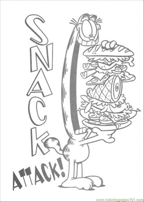 snack attack coloring page  garfield coloring pages coloringpagescom