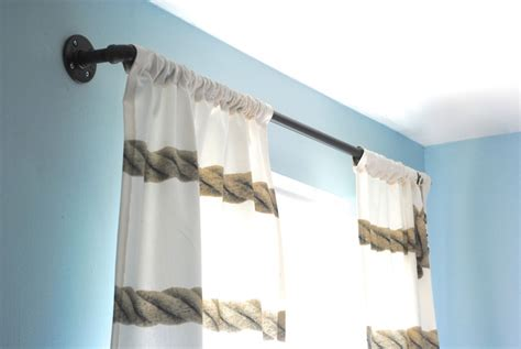 industrial style curtains diy industrial pipe curtain rods boys room update