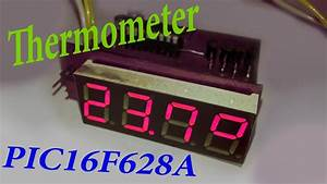 Thermometer With Pic 16f628a And Ds18b20