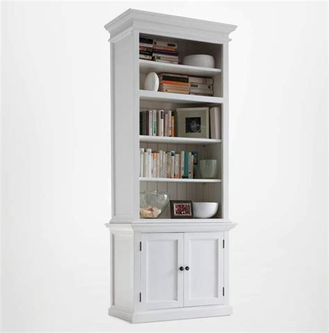 White Open Bookcase by Halifax White Single Open Bookcase With Cupboards Akd