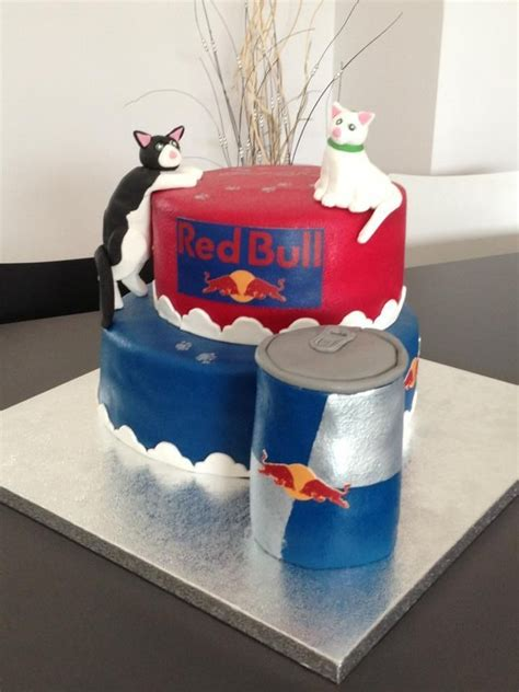 cake   redbull addict  cat lover taart
