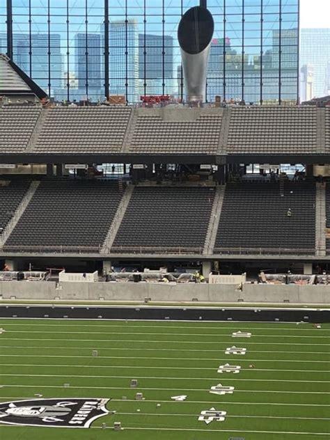 early peek  allegiant stadium reveals incredible