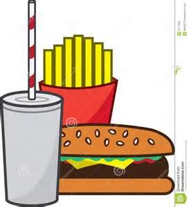 Hamburger and Fries Cartoon Shake