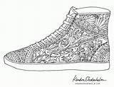 Coloring Pages Shoes Shoe Colouring Adult Sheets Adults Jordan Books Print Template Doodles Printable Birds Kendra Shedenhelm Pattern Doodle Mandala sketch template
