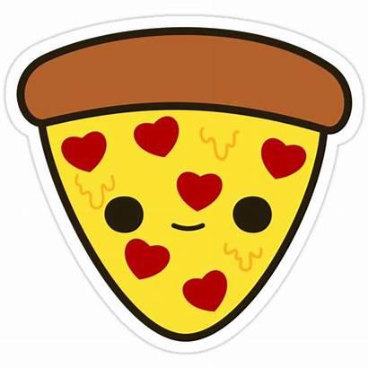Pizza Kawaii Heart Clipart Imagenes Toppings Cartoon