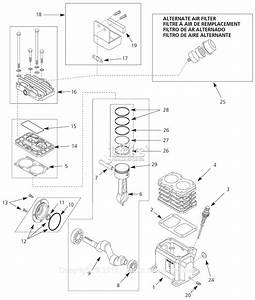 Campbell Hausfeld Vt6315 Parts Diagram For Pump Parts