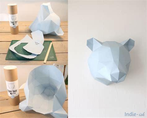 creation deco chambre création d 39 un ours en papier pour décorer la chambre
