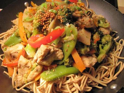 recette wok vitamine poulet  sesame