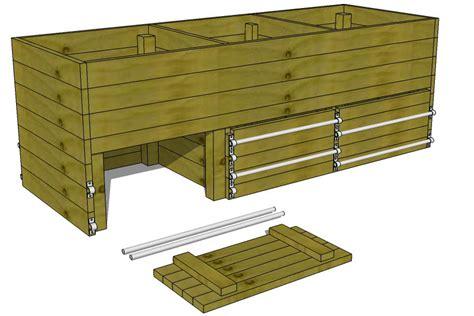 wood compost bin plans diy compost bin
